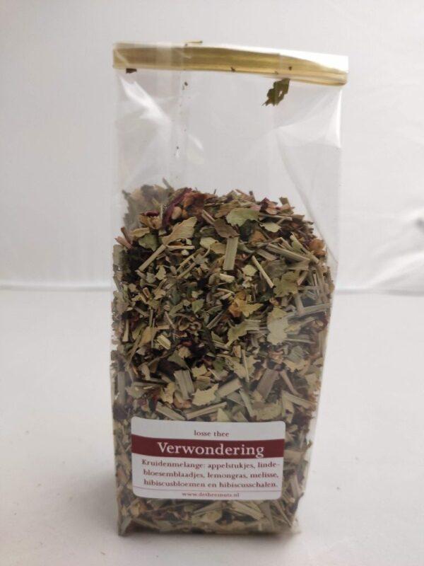 zakje met losse thee genaamd Verwondering